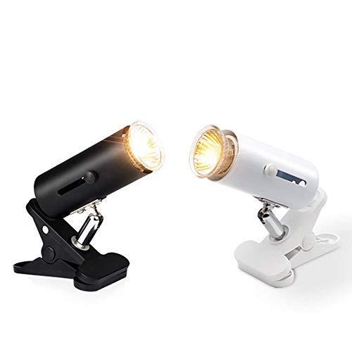 DAGCOT Lámpara de Reptil - Lámpara de Abrazadera Flexible giratoria Lagarto o Anfibio Ajusta el Brillo Soporte de iluminación del hábitat (no Incluye Bombillas),Blanco