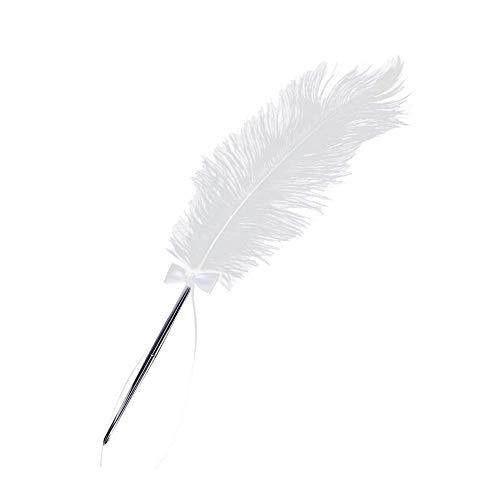 U/K PULABO - Bolígrafo de calidad prémium con punta de diamante, punta de bolígrafo para escribir, firmación, boda, color blanco, material de oficina práctico
