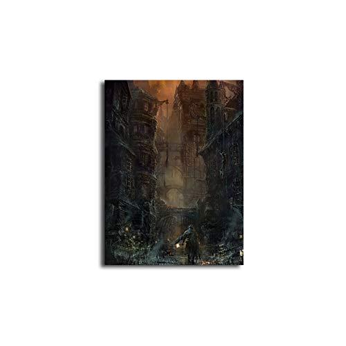FBHLIN Cuadro sobre Lienzo Pintura De Inyección De Tinta, Pintura Decorativa, Pintura Sin Marco, Inyección De Tinta De La Ciudad Antigua En Ruinas, 60X70M