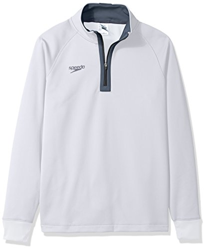 Speedo Unisex 3/4 Zip Pull Over Warm Up Jacket, XX-Large, White