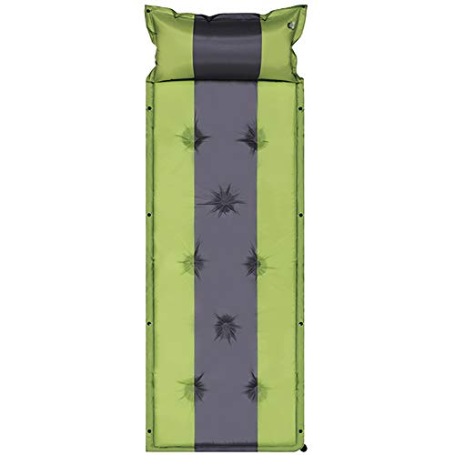 Outdoors Sleeping Pad Camping Ultralight Single Inflatable Camping Mat 75.5x 23.6 x 1.1 inches for Backpacking Camping Beach Car Traveling Self Driving Tour,Green,5cm