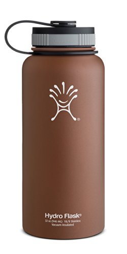 Hydro Flask Insulated Stainless Steel Water Bottle, Wide Mouth, 18-Ounce, Arctic White