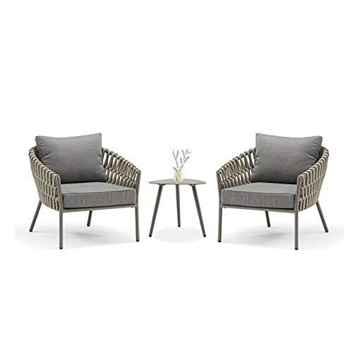 NVBXDF Garden Furniture Set – Balcony Furniture - Lounge Furniture Terrace - Garden Furniture - Table Set – Balcony Furniture Set 2x Chair + 1x Table