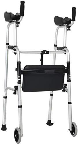 DLLY Aide à la Marche Alu Chariot de Marche Pliable réglable en Hauteur pour Les Seniors Charge maximale 100 kg, A