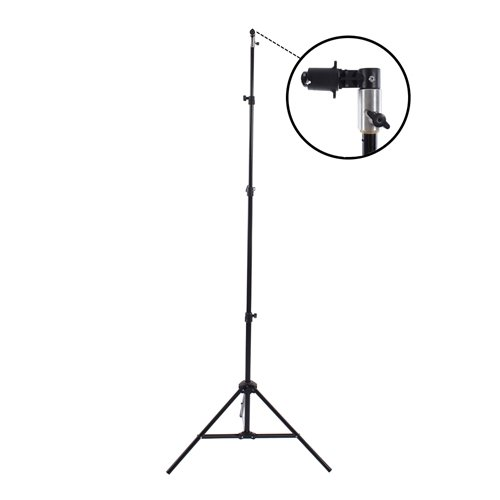 Fovitec 7 6  Spring Cushioned Collapsible Background Stand Kit with Clip for Pop Up Backdrops, Chroma Key Green Screens, and Foldable Disc Reflectors