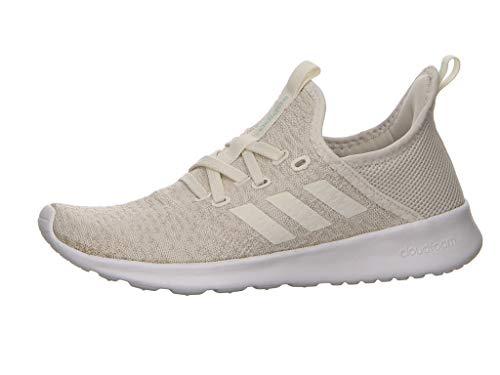 adidas Women's Cloudfoam Pure Running Shoes, White (Cloud White/Ice Mint), 4 UK