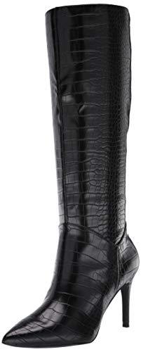 Steve Madden Women's Kinga Fashion Boot, Black Crocodile, 8 M US