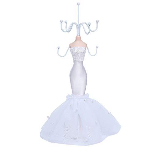 Hellery Elegante Schaufensterpuppe Schmuck Display Halter Schmuck Veranstalter Stand Display Hängen Rack Hochzeitskleid Prinzessin Stile Schmuck Halter