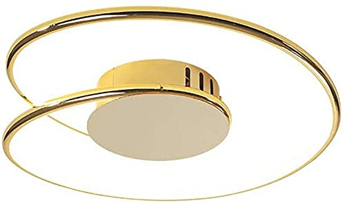 Waqihreu Lámpara de Techo LED Moderna, lámpara de Techo giratoria Regulable, lámpara de Techo con diseño Circular de Control Remoto, Utilizada en Estudio, Oficina, Sala de Estar, Dormitorio, Pasillo