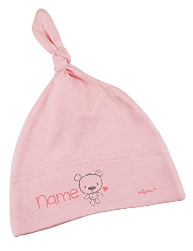 Striefchen® Rosa Babymütze mit Namen als Geschenk zur Geburt für Mädchen