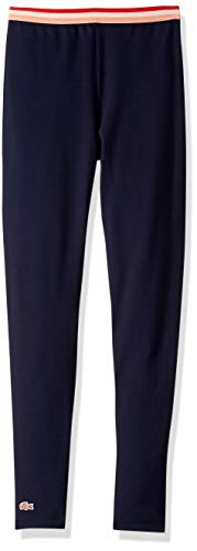 Lacoste Big Girl Athleisure Track Pant, Navy Blue, 10YR