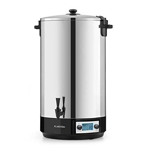 Klarstein KonfiStar 60 Digital - Stérilisateur automatique, Distributeur de boissons chaudes, 60 Litres, 2500 Watt, 30-100 °C, Minuterie, fonction réchauffage, acier inoxydable poli