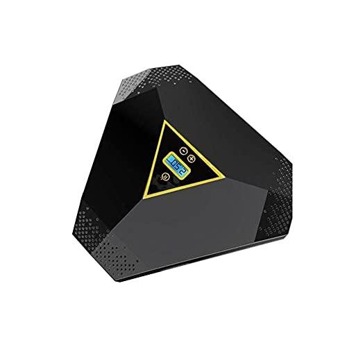 Bomba de inflado de neumáticos digital, (22x9,5x20,5 cm) Compresor portátil de bomba de aire de coche de 12 V 5 A para neumático de coche con 50 l/min con múltiples boquillas de aire (With lamp)