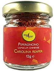PEPERONCINO CAROLINA REAPER 12g IN POLVERE SUPERHOT GUINNESS WORLD RECORD COME PIU' PICCANTE AL MONDO