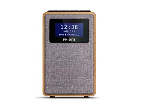 Philips R5005/10 Radiosveglia Driver Dell'altoparlante Full-Range da 2.5', Design Compatto, Radio DAB+/FM, Display Nero Lucido, Allarme Doppio, Modello 2020/2021
