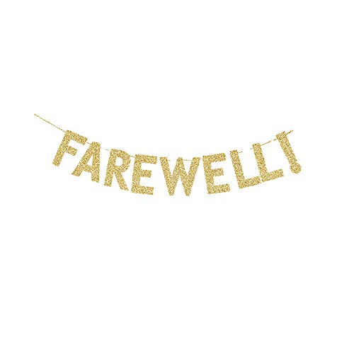 Farewell! Banner, Farewell/Goodbye/Retirement/Housing Moving/Job Changing Party Sign Decors