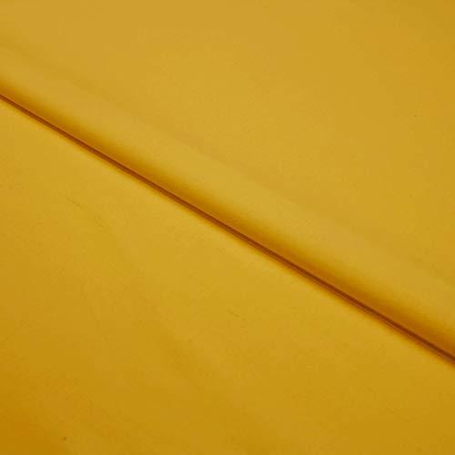 Hans textiel shop stof per meter katoen Linon (effen, uni, stof getest op schadelijke stoffen, gemakkelijk te onderhouden, 1 meter) oker