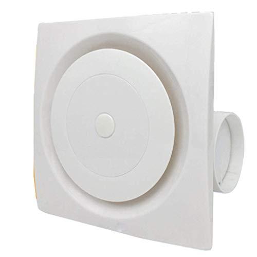 RJSODWL Ventilador de ventilación: luz Nocturna, ventilación silenciosa Blanca del Techo del baño silencioso for la eliminación rápida de la Humedad y los olores