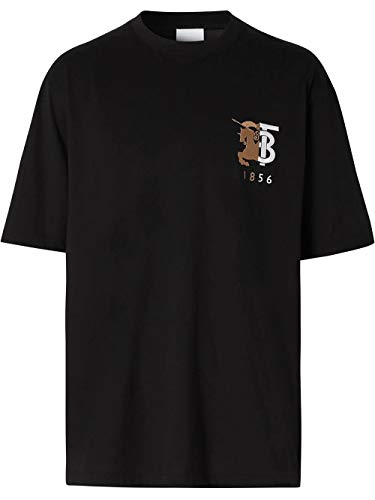 BURBERRY Luxury Fashion Herren 8023785 Schwarz T-Shirt  