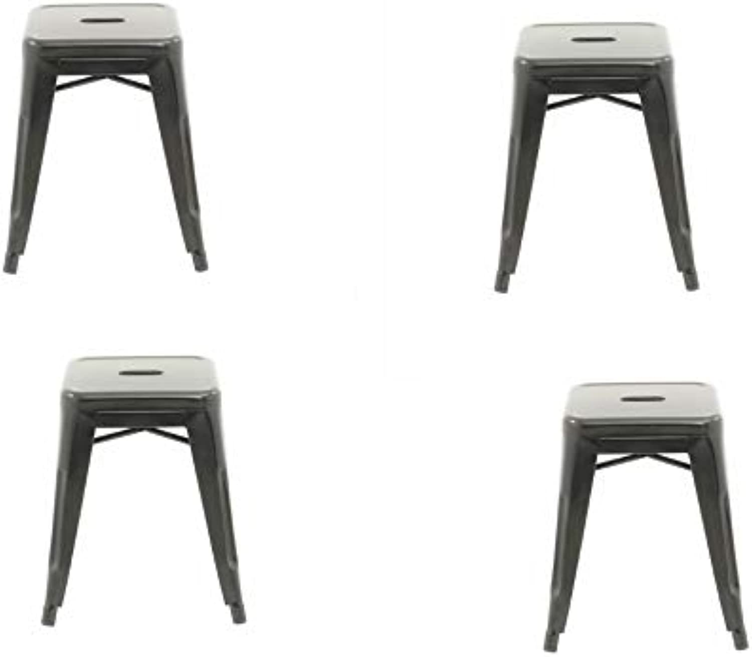 Take Me Home Furniture TMH-TH-1001-18-GR-set4 Barstool Mini Tolix Colour Grey Set of 4, Perfect for Kids, barfurniture