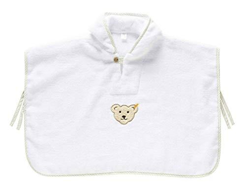 Steiff Unisex Baby Kapuze Bade Poncho, BRIGHT WHITE, One Size