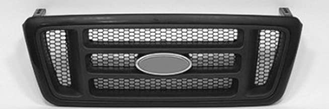 New Front Grille For 2004-2008 Ford Lightduty, For STX/FX4 Models, H-BAR Design With Primed Frame and Dark Gray Textured H-BARS, With Black Honeycomb FO1200414 4L3Z8200BAPTM