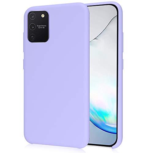 Oureidoo Samsung Galaxy S10 Lite/Galaxy A91 Hülle - Liquid Silikon Handyhülle für Samsung Galaxy S10 Lite/Galaxy A91 - Handy Hülle in Lila Lavendel
