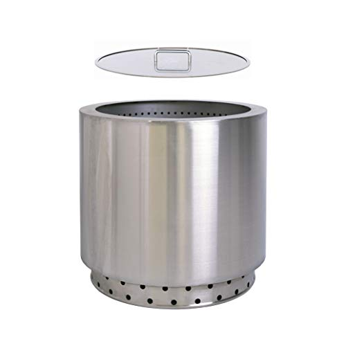 Hi Flame Bonfire Fire Pit Smokeless Stainless Steel Outdoor...