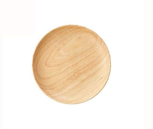 Plato de madera Islandoffer, bandeja redonda de madera, bandeja de soja de sushi de madera