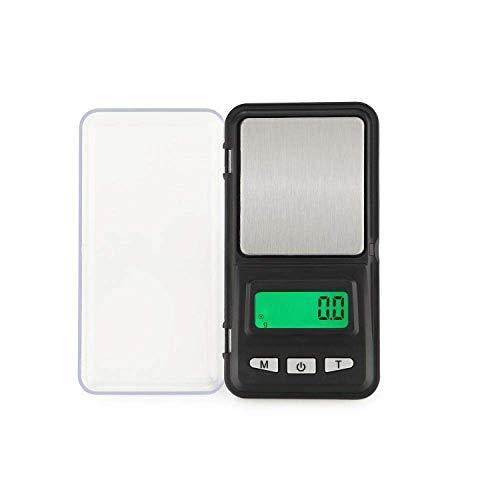 MLTYQ Báscula electrónica de joyería Báscula Digital de joyería Balance de Peso Mini precisión Balanza electrónica de Bolsillo Báscula Precisión 0 01G para joyería gram Scale-_0.01G_X_300G