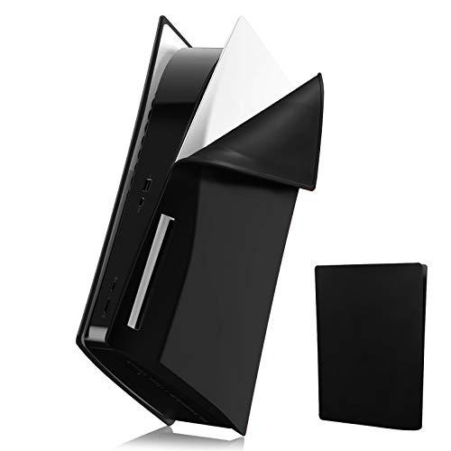 Coque pour Console PS5, Silicone Coques Anti-Rayures Cover pour Console Playstation 5, Mou Antichoc Anti poussière Coque de Protection Étui PS5 Cover Housse pour Sony PS5 Console Disc Version-Noir