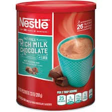 NESTLE HOT COCOA Mix Fat Free Rich Milk Chocolate Flavor 7.33 Oz. (Pack of 2)