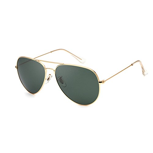 Gafas de sol Glasses Gafas De Sol Polarizadas Metálicas Gafas De Sol Oval Classic Gafas De Sol Polarizadas Para Hombres Y Mujeres Gafas De Sol Para Viaje Al Aire Libre Gold Frame Polarizador Verde Osc