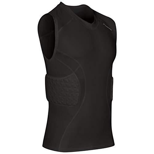 Champro Adult Padded Compression TOP PAD Shirt BBJU9A Black L