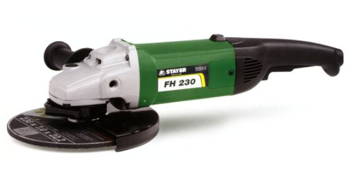 Stayer 1.5732 Amoladora, radial, disco 230mm, 2100 W, Verde/
