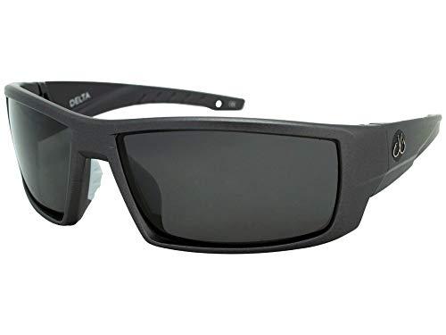 Filthy Anglers Delta Polarized Sports Fishing Sunglasses Matte Graphite Black Lenses 100% UV