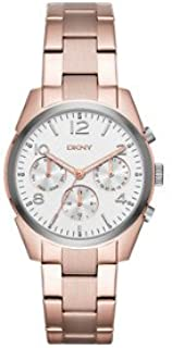 Dkny Women's 'Crosby' Quartz Stainless Steel Casual Watch, Rose Gold-Toned (Ny2472), Analog Display