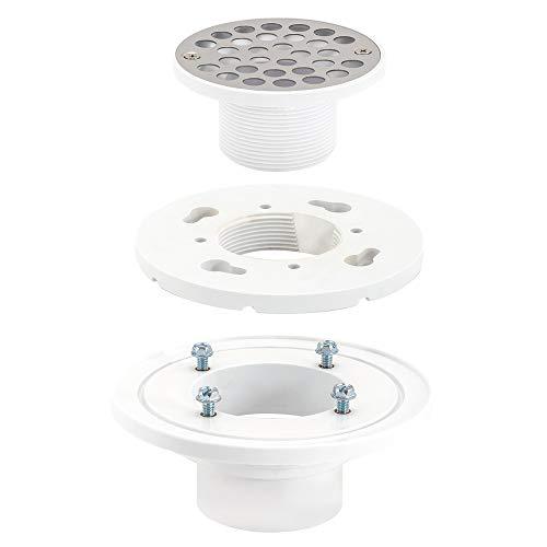 EZ-FLO 15301 PVC Low-Profile Floor & Shower Drain, 2