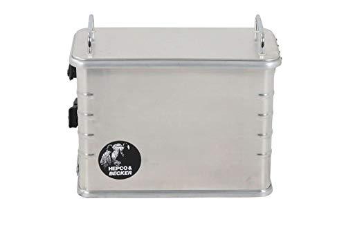 H&B Zubehör Motorrad-Topcase Alukoffer Standard 40 (40 Liter) rechte Seite, Unisex, Tourer, Sommer, Aluminium, Silber