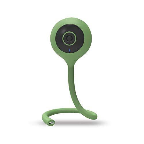 Monitor inteligente para bebés, cámara de vigilancia inalámbrica WiFi a distancia para teléfono móvil, 2 vías, gran angular, 2 millones verde verde