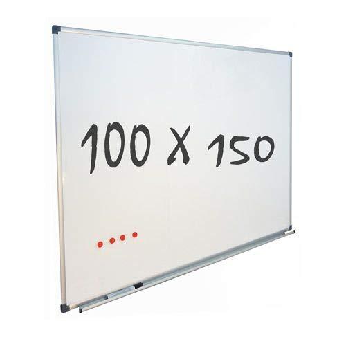 Vivol Eco Magnetic Whiteboard 100x150   Aluminium Rahmen   Magnettafel Whiteboardwand Magnetwand   Stiftablage   14 Größen   Magnetisch und Beschreibbar