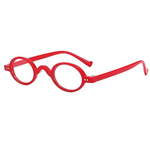 Gafas De Sol Pequeñas Gafas De Sol De Marco Redondo Comprimidos blancos de marco rojo