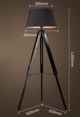 WUYUESUN American Vintage Lámpara de pie Ajustable Trípode Lámparas de pie for Sala de Estar Dormitorio Dormitorio Decoración Luz Home E27 Lámpara de pie (Lampshade Color : J)