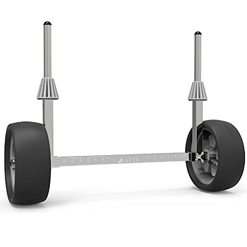 JouZYA High-Strength Stainless Steel Sit on Top Kayak Cart with Flat-Free Wheels,Suitable for Plug Holes, Quick to Install & Strong Load Capacity