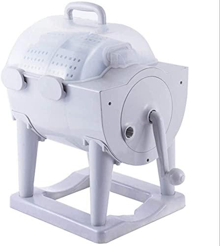 WSVULLD Lavatrice Manuale Portatile Non elettrica Lavatrice a Mano a manovella for Lavatrice asciugatrice Design Compatto for Appartamento, Hotel, dormitorio, dormitori da Campeggio