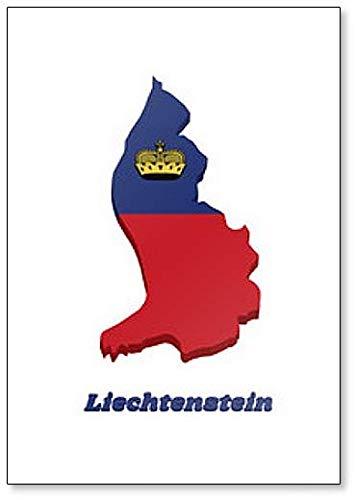 Kühlschrankmagnet, Motiv: Flagge von Liechtenstein