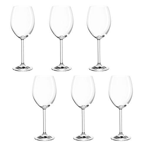 montana pure Rotwein-Gläser, 6er Set, spülmaschinenfeste Rotwein-Kelche, Wein-Gläser im klassischen Stil, Glas-Kelche für Rotwein, 390 ml, 042385