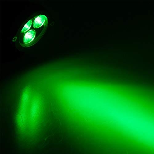 9W LED-Landschaftslichter, OurLeeme LED-Außenstrahler Wasserdichte Niederspannungsscheinwerferlampe AC 85-265V für Rasen, Garten, Hof, Einfahrt (ohne Stecker) (Grün)