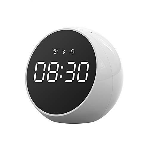 CCJW Mini Altavoz Bluetooth Radio Bluetooth Altavoz de Alarma del Despertador de Altavoces estéreo de Voz Control Digital Surround Music LED Despertador kshu