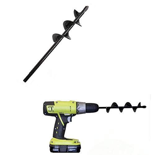 Post Hole Digger Auger Drill Bit Garden Spiral Hole Drill Planter Bulb Planter Auger Drill Bit Garden Cultivator Hand Drill Post Hole Digger Auger Tools Earth Soil Hex Auger Drill Bit for Planting